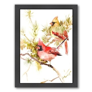 Americanflat 'Cardinal Birds' Framed Wall Art