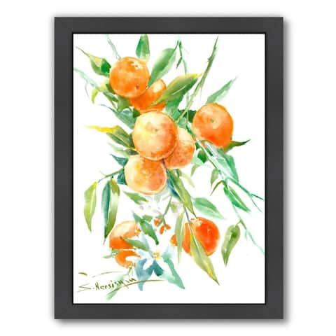 Oranges On Tree - Framed Print Wall Art