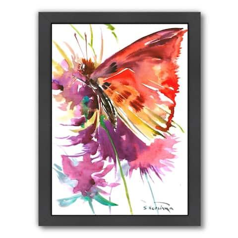 Butterfly Red - Framed Print Wall Art