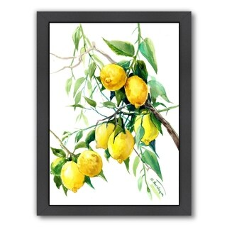 Americanflat 'Lemon Tree 2' Framed Wall Art