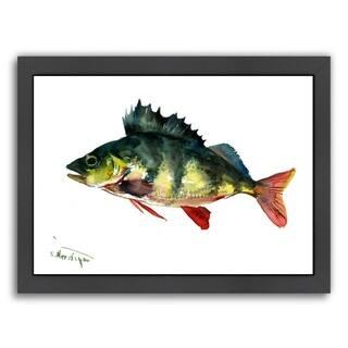 Americanflat 'Bass Fish 1' Framed Wall Art