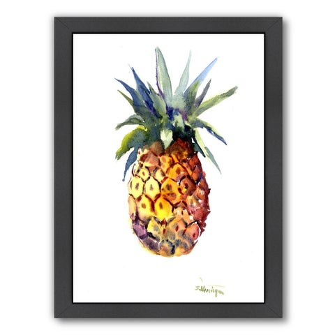Americanflat 'Pineapple 2' Framed Wall Art