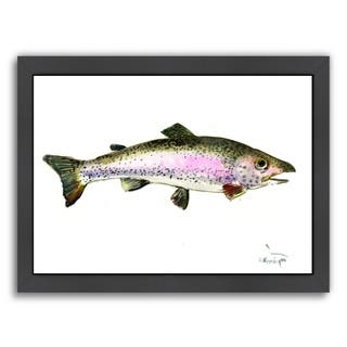 Americanflat 'Rainbow Trout 2' Framed Wall Art
