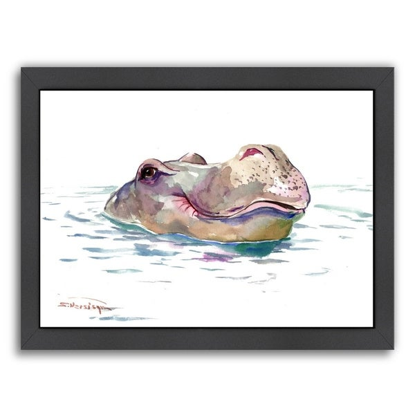 Americanflat \'Hippo\' Framed Wall Art - Free Shipping Today ...
