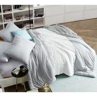 BYB Handcrafted Tundra Gray Knit with White Jacquard Comforter - Oversized