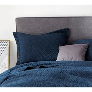 BYB Navy Supersoft Pre-Washed Sham