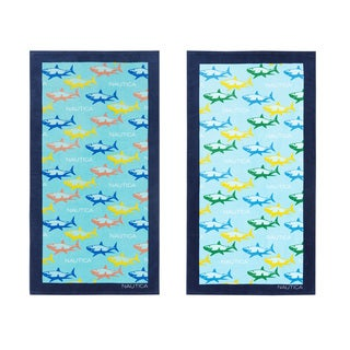 Nautica Shark Attack Beach Towel (Set of 2)