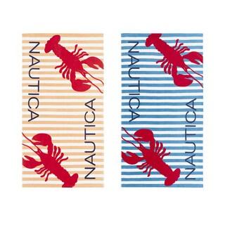 Nautica Twin Lobster Beach Towel (Set of 2)