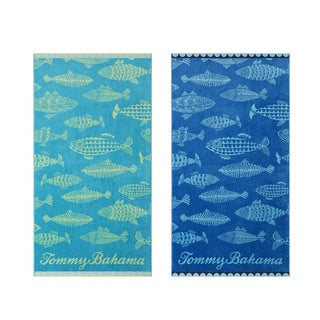 Tommy Bahama Fish Assorted Beach Towel (Set of 2)