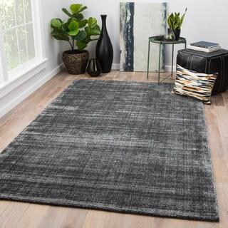 Anselm Handmade Solid Gray Area Rug (5' X 8') - 5' x 8'