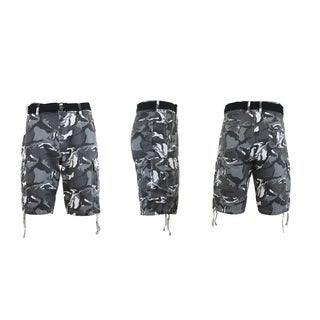 Galaxy By Harvic Men's Belted Cargo Pocket Shorts (More options available)