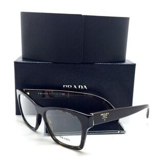 Prada New Authentic Brown Havana Tortoise Women Eyeglasses VPR 22S 2AU 1O1 54 16 140 (As Is Item)