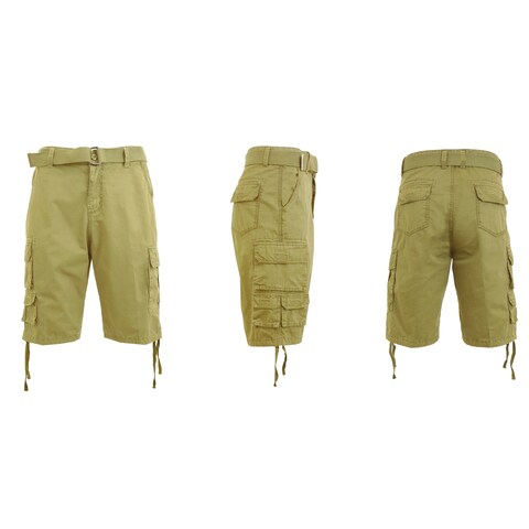 Galaxy By Harvic Men's Belted Utility Cargo Shorts