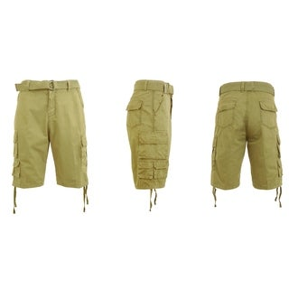 Galaxy By Harvic Men's Belted Utility Cargo Shorts (More options available)