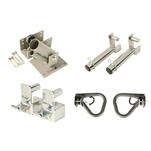 """FITNESS REALITY Attachment Set for 2""""x2"""" Steel Tubing Power Cages - Silver"""