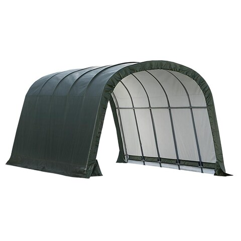 ShelterLogic Run In Shed In A Box Polyethylene Green Storage - 12' x 20' x 8'