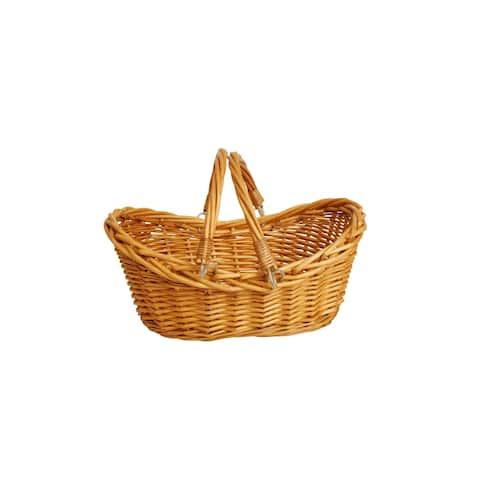 "13.5"" Honey Finish Willow Basket"