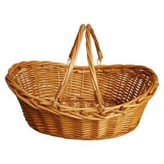 "17"" Honey Finish Willow Basket"