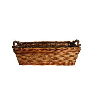 "17"" Carved Willow Basket"