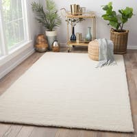 Tinsley Handmade Solid White/ Cream Area Rug (8' X 10')