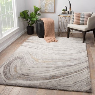 Hammet Handmade Abstract Gray/ Gold Area Rug (8' X 11')