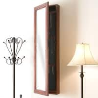 Oliver & James Mattila Wall-mount Burgundy Cherry Jewelry Mirror