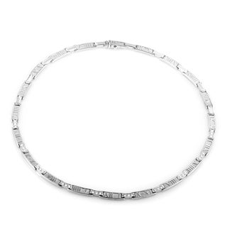 Pre-Owned Tiffany & Co. Atlas White Gold Diamond Collar Necklace