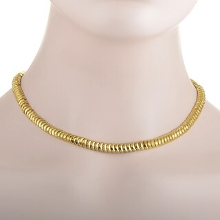 Henry Dunay Hammered Facets Yellow Gold Collar Necklace