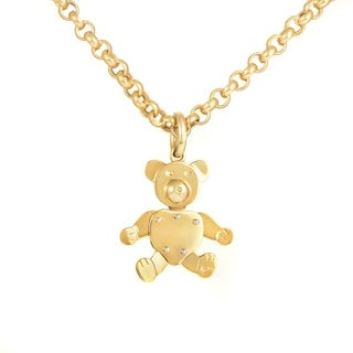 Pomellato Yellow Gold Teddy Bear Pendant Necklace