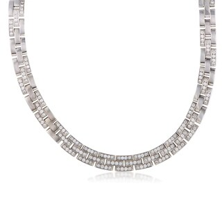 Maillon Panthere White Gold Diamond Pave Collar Necklace