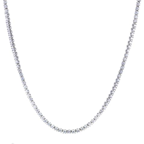 Bvlgari Womens White Gold Diamond Tennis Collar Necklace