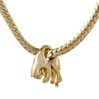 Cartier Panthere Vintage Yellow Gold Pendant Necklace