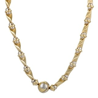 Sauro Yellow and White Gold Collar Necklace