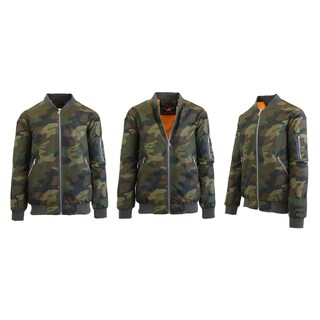 Spire By Galaxy Men's Lightweight MA-1 Bomber Flight Jacket (More options available)