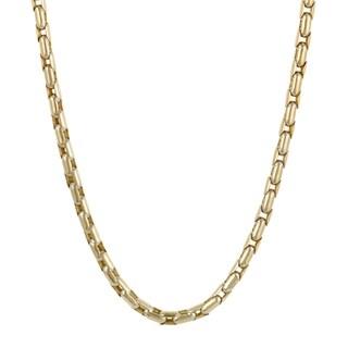 Sauro Men's Yellow Gold Venetian Link Necklace