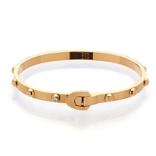 Louis Vuitton Rose Gold Diamond Bangle Bracelet Size 18