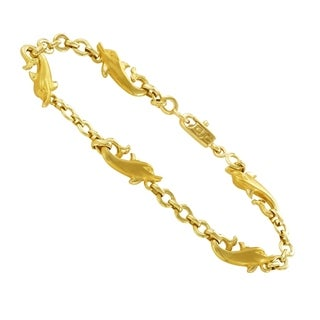 Carrera y Carrera Yellow Gold Dolphin Bracelet