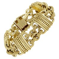 Judith Ripka Women's Carved Yellow Gold Bracelet