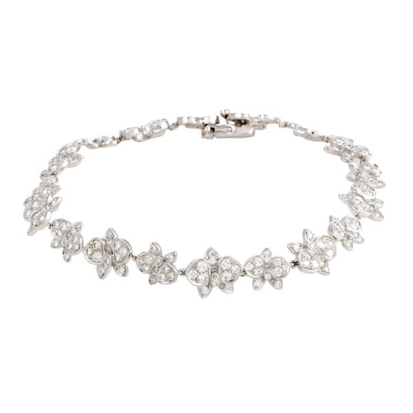 c1ec4502eb755 Shop Cartier Caresse d'Orchidees White Gold Diamond Bracelet - On ...