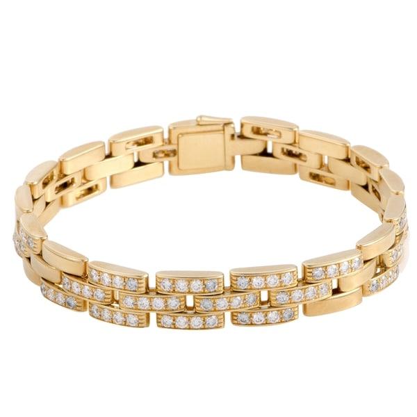 deda7c29ec00e Shop Cartier Maillon Panthere Yellow Gold Diamond Link Bracelet ...