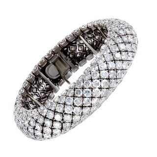 White Gold Full Diamond Pave Bracelet