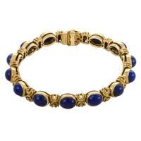Van Cleef & Arpels Womens Vintage Yellow Gold Lapis Lazuli Bracelet