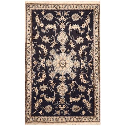 Handmade One-of-a-Kind Nain Wool and Silk Rug (Iran) - 2'11 x 4'8