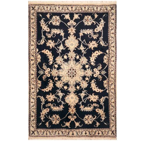 Handmade One-of-a-Kind Nain Wool and Silk Rug (Iran) - 2'10 x 4'6