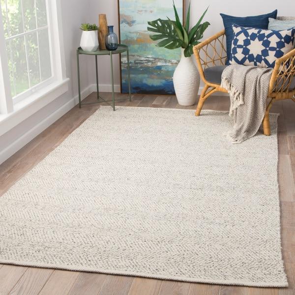 8 X 11 Area Rugs On Sale: Shop Kieran Handmade Geometric Taupe/ White Area Rug (8' X