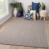 Dante Handmade Geometric Brown/ Gray Area Rug (8' X 10')