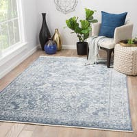 Peregrin Floral Blue/ White Area Rug (8' X 10')