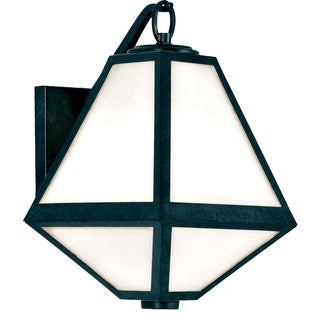 Crystorama Brian Patrick Flynn-Glacier Collection 1-light Black Charcoal Outdoor Wall Sconce
