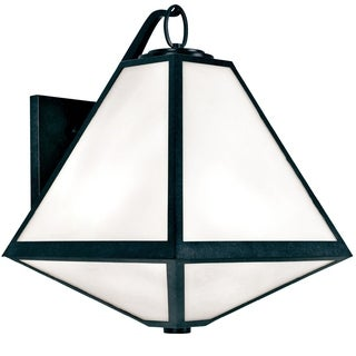 Crystorama Brian Patrick Flynn-Glacier Collection 3-light Black Charcoal Outdoor Wall Sconce