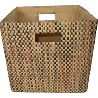 Cube Collapsible Tote, Mahogany Tweed